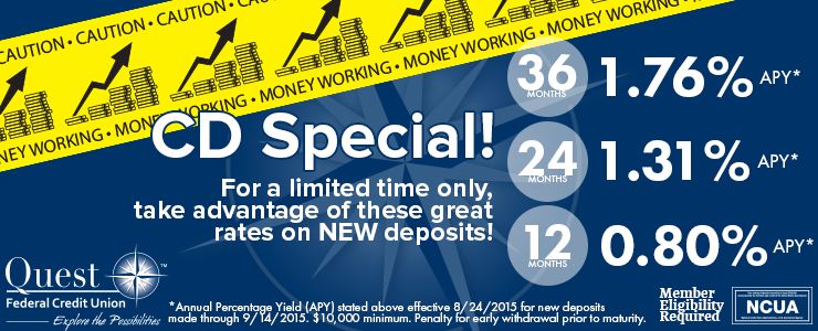 Great rates are here... but for a limited time only!